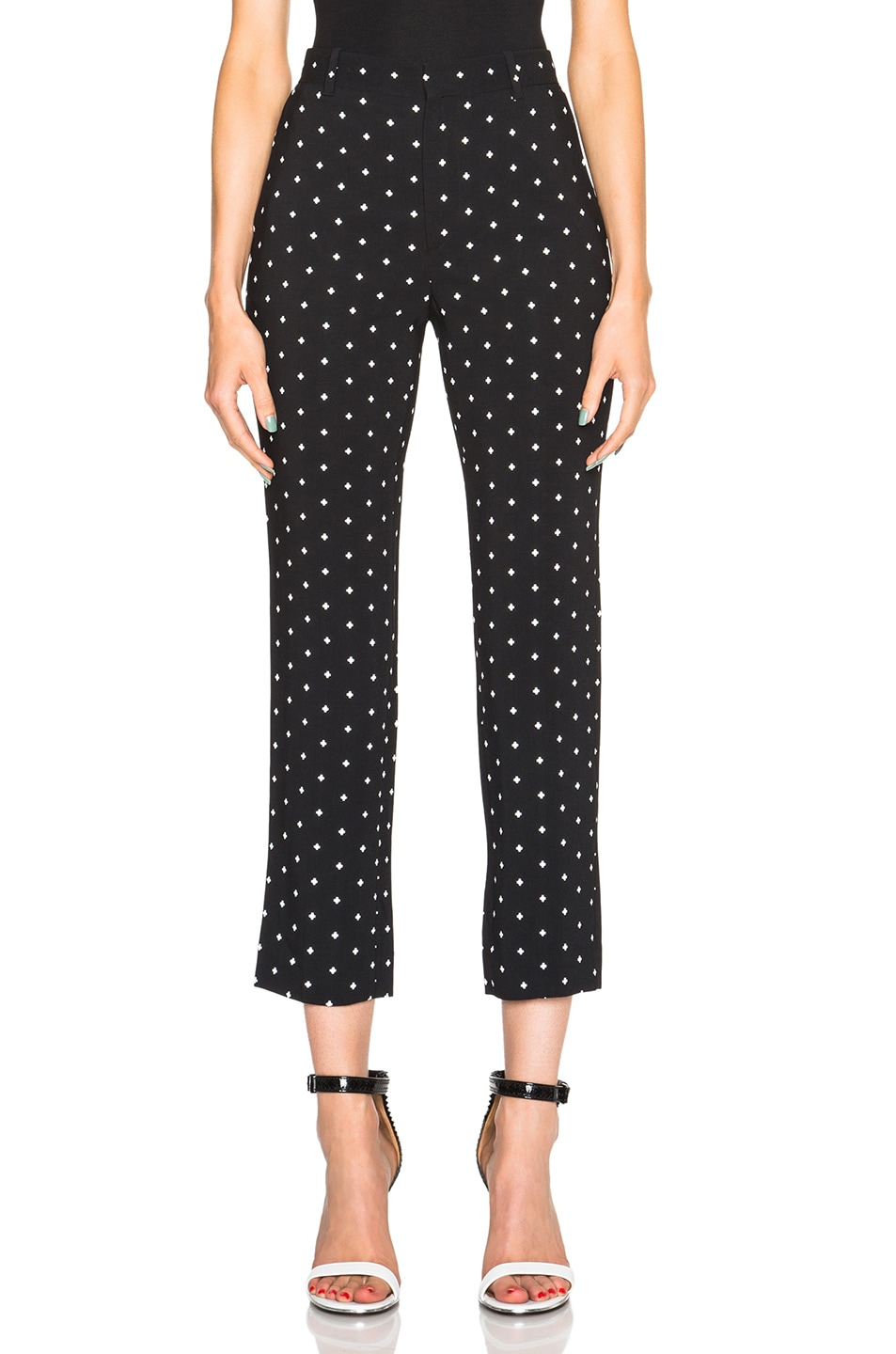 Image 1 of Givenchy Crosses Print Cady Trousers in Black