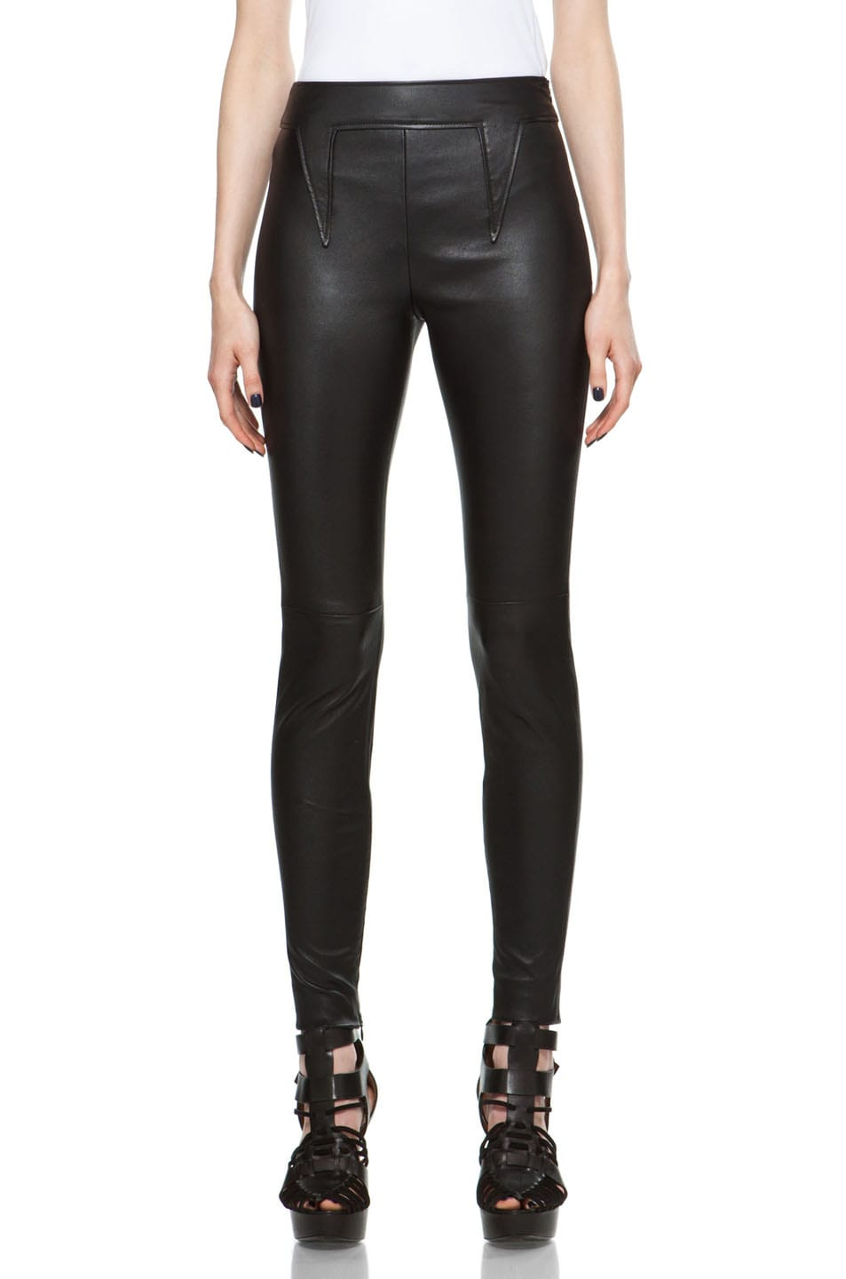 Image 1 of GIVENCHY Skinny Leather Pant in Black