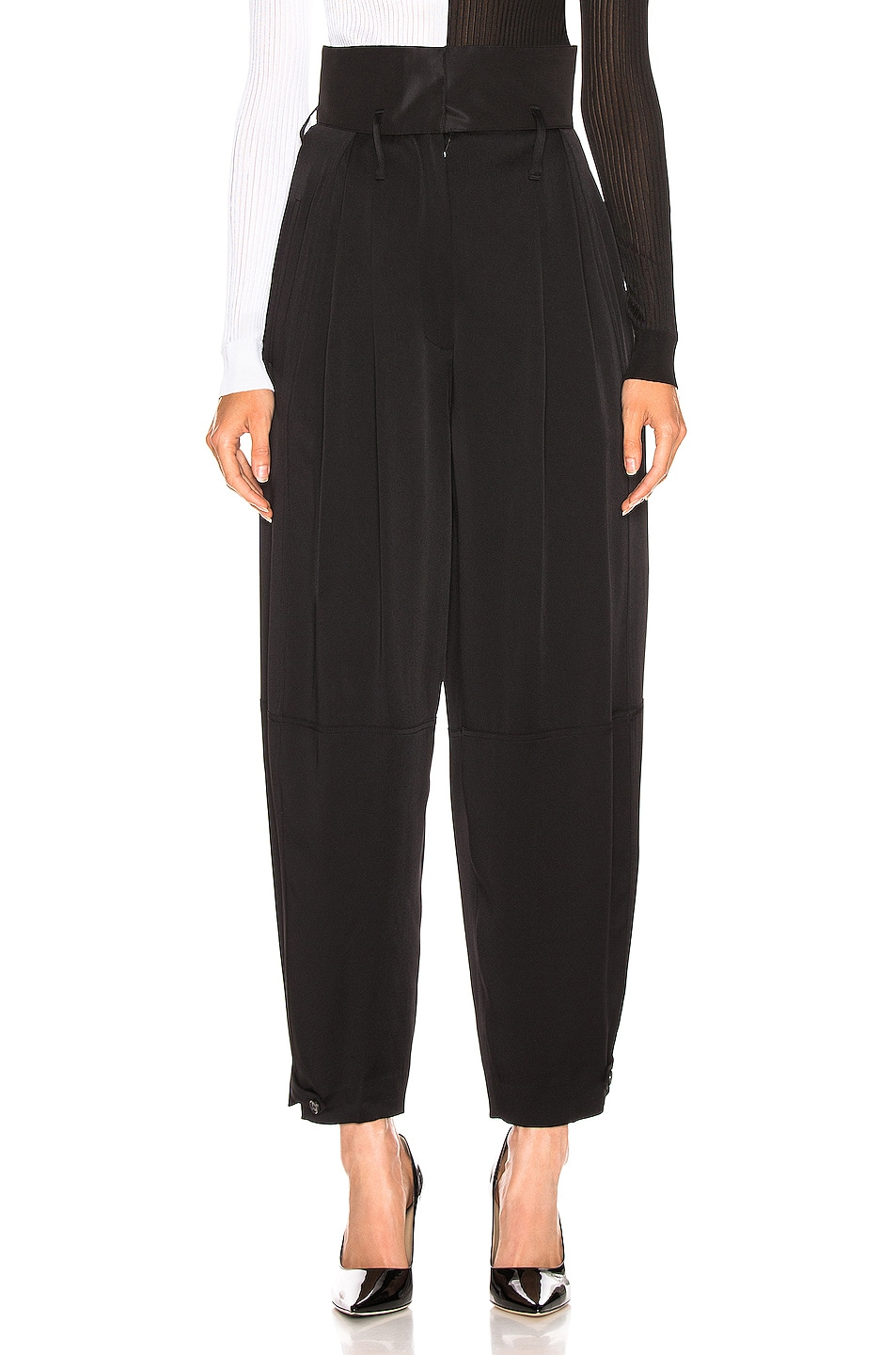 Image 1 of Givenchy High Waist Large Fit Pant in Black