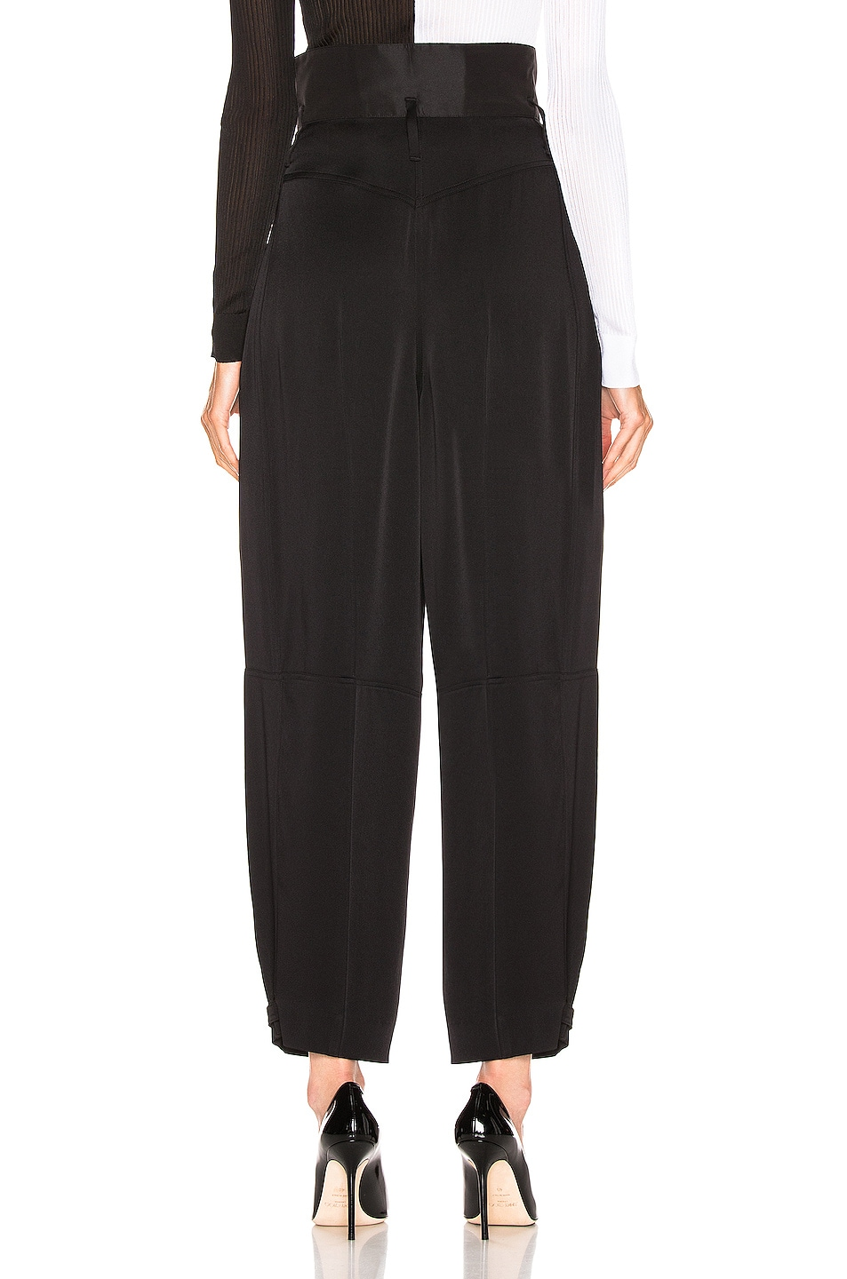 Image 3 of Givenchy High Waist Large Fit Pant in Black
