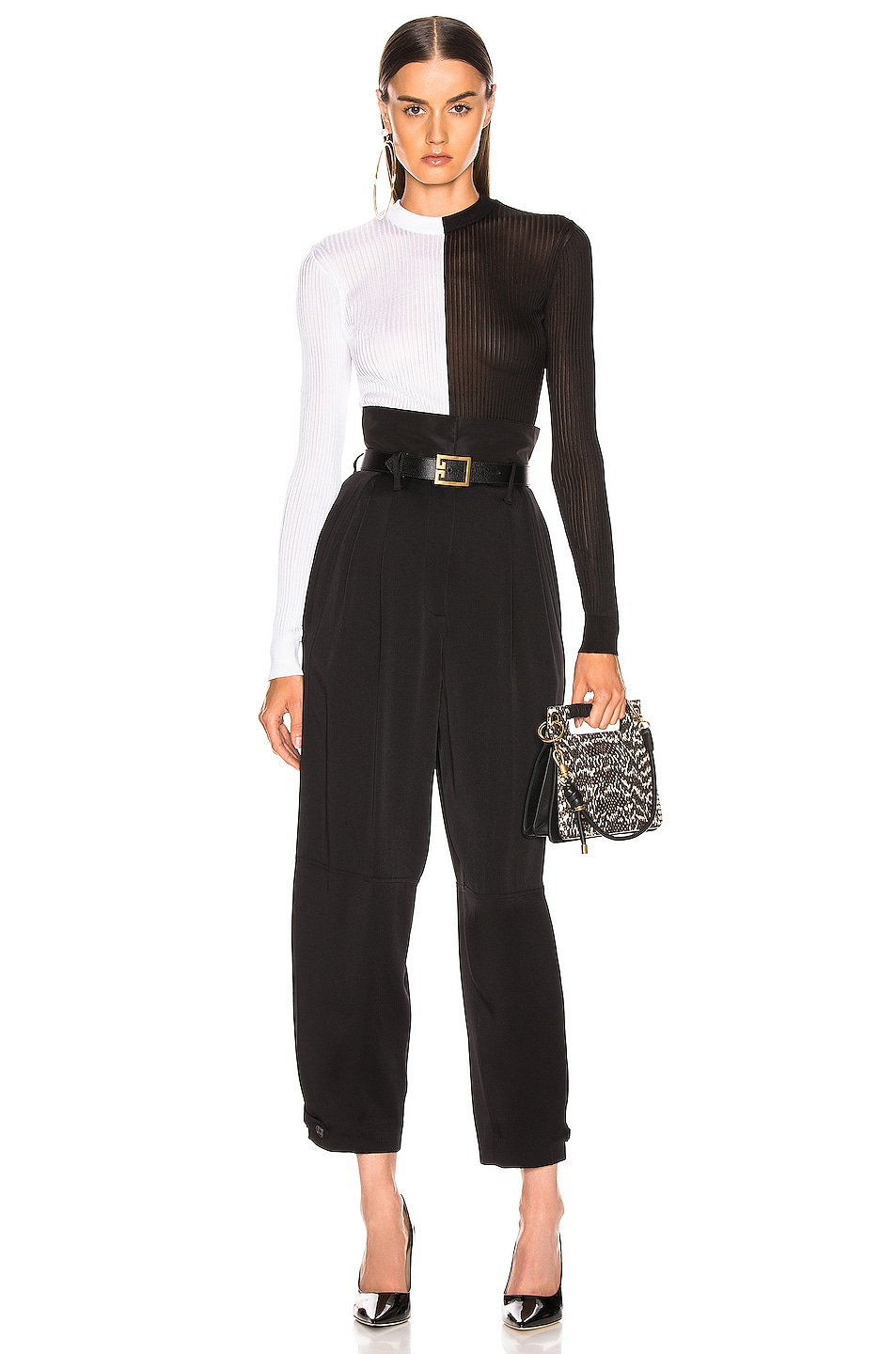 Image 4 of Givenchy High Waist Large Fit Pant in Black
