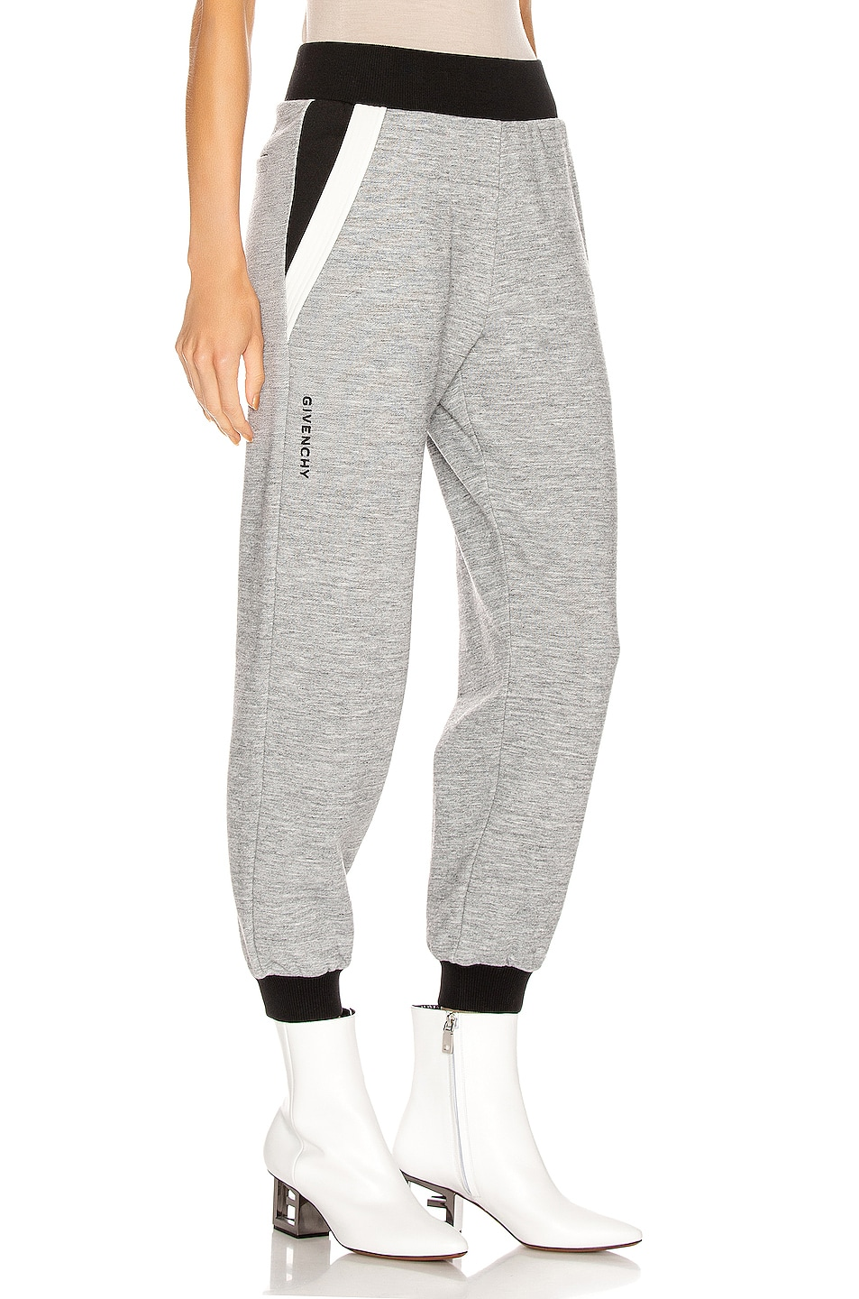 Image 1 of Givenchy Cropped Jogger Pant in Heather Grey