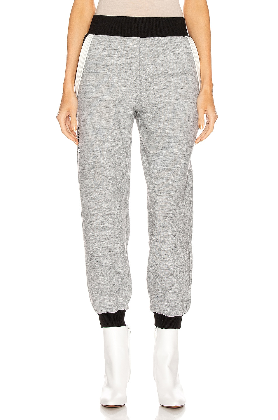 Image 2 of Givenchy Cropped Jogger Pant in Heather Grey