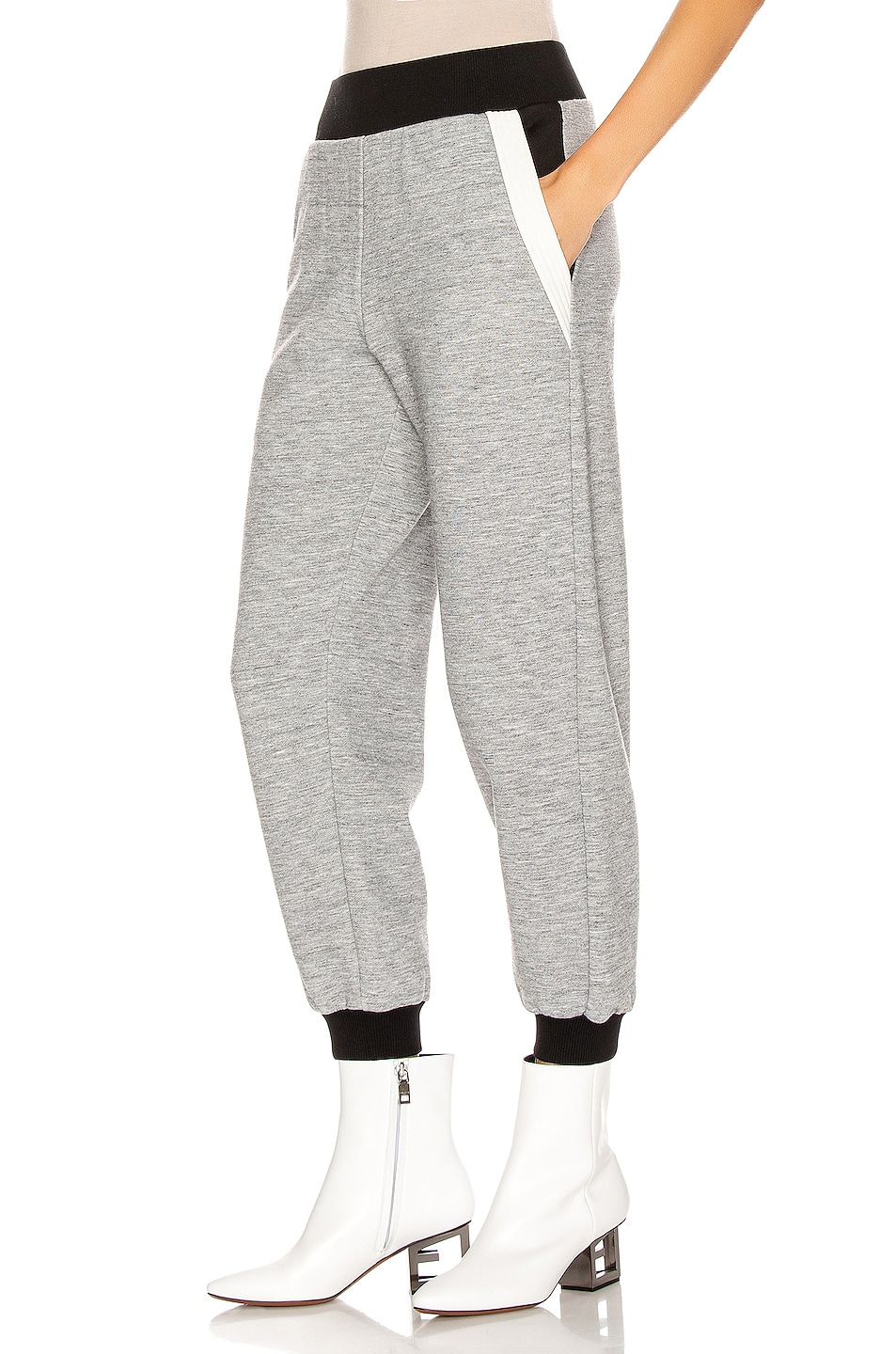 Image 3 of Givenchy Cropped Jogger Pant in Heather Grey