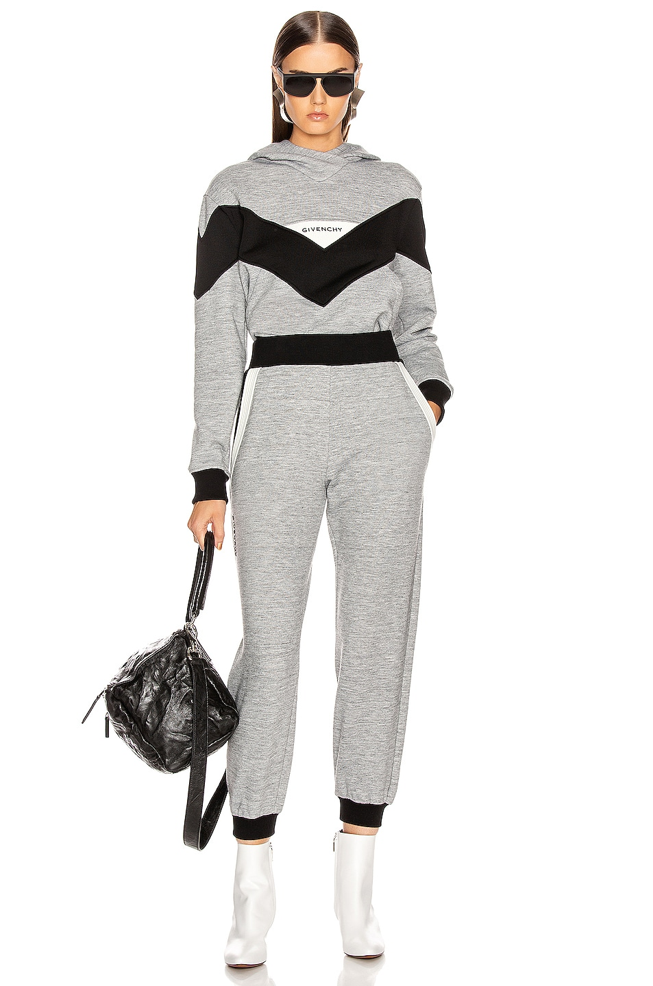 Image 5 of Givenchy Cropped Jogger Pant in Heather Grey