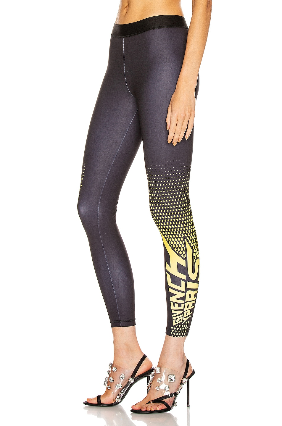 Image 3 of Givenchy Sporty Logo Legging in Black & Yellow