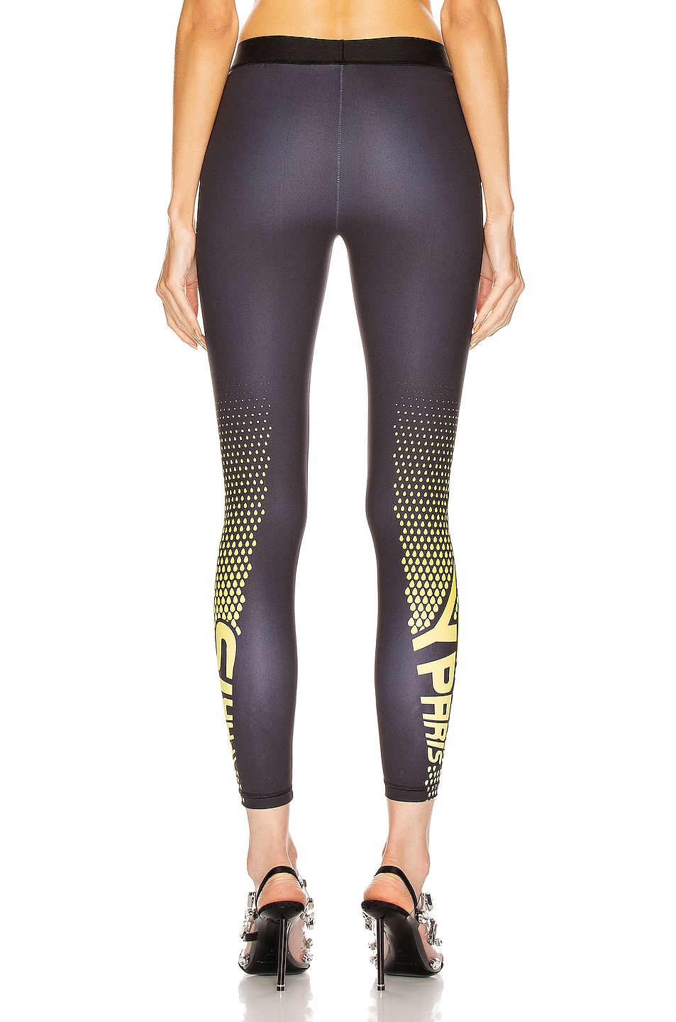Image 4 of Givenchy Sporty Logo Legging in Black & Yellow