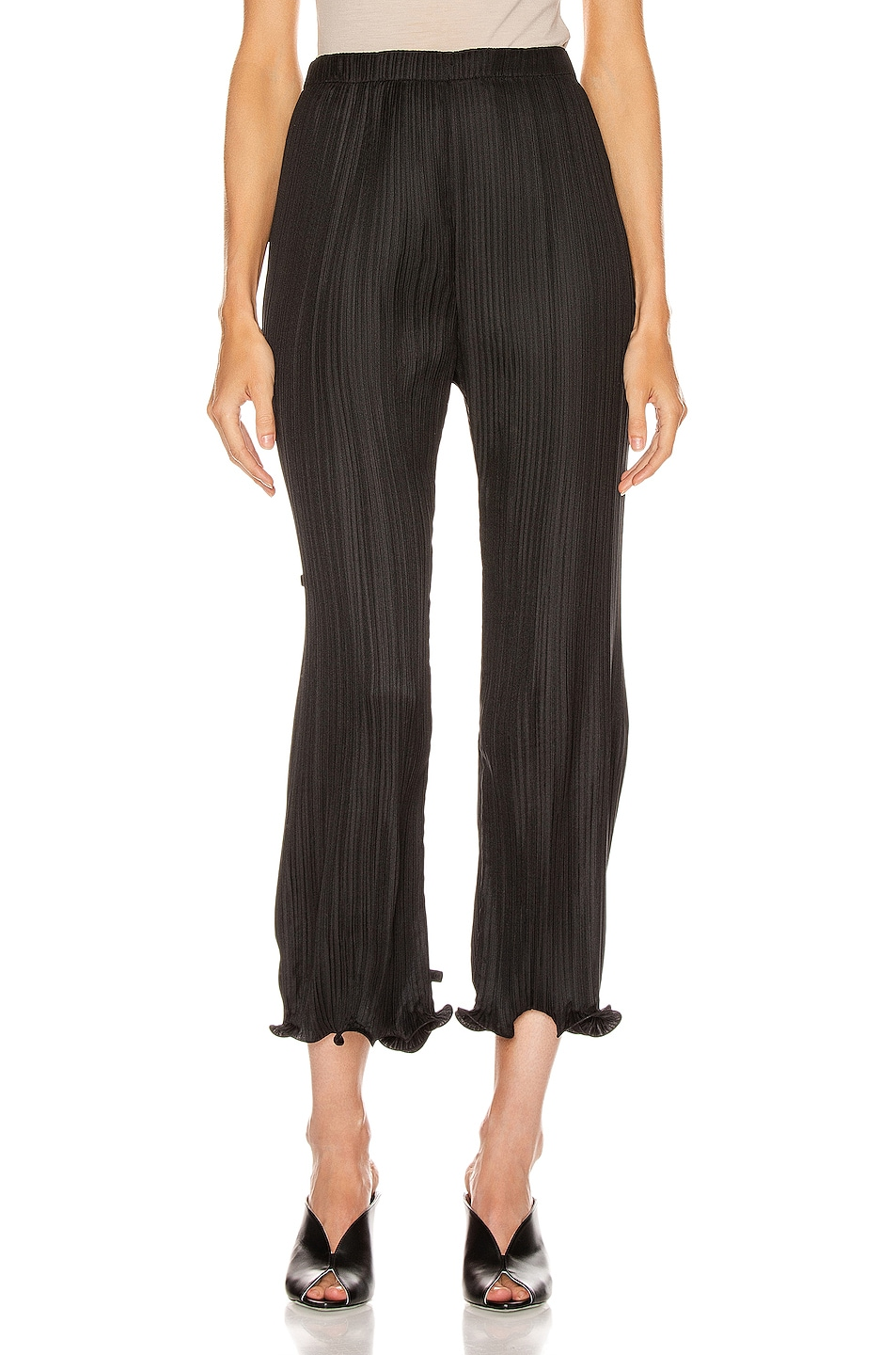 Image 1 of Givenchy Pleated Wave Details Pant in Black