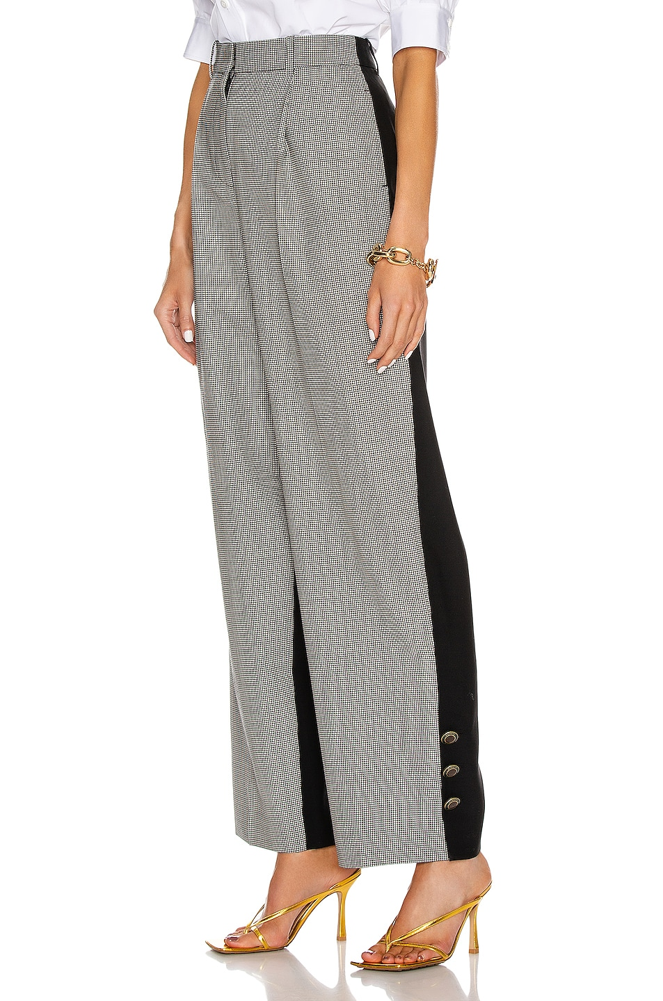 Image 1 of Givenchy Button Bicolor Large Pant in Black & White