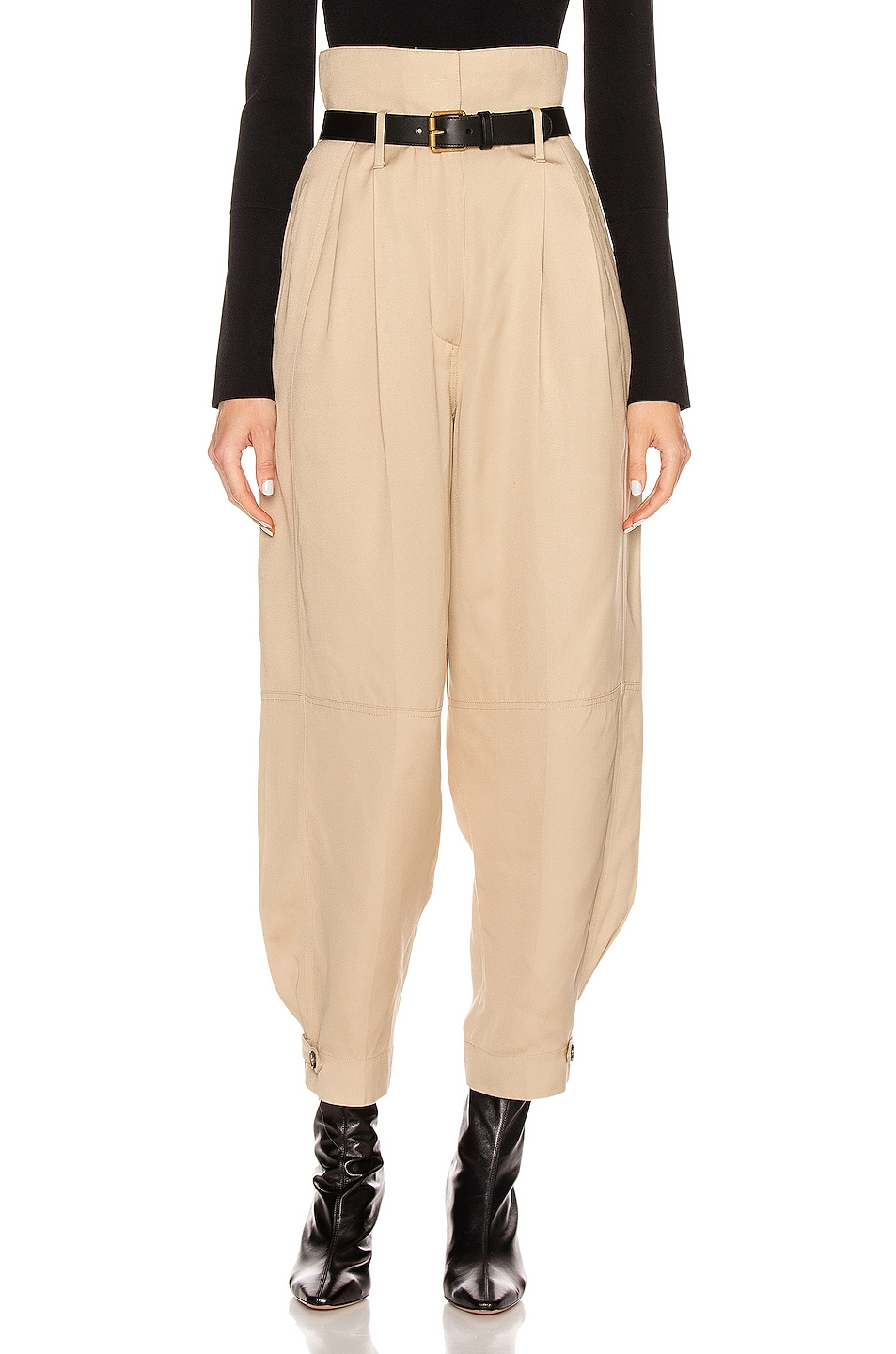 Image 1 of Givenchy High Waisted Pant in Tan