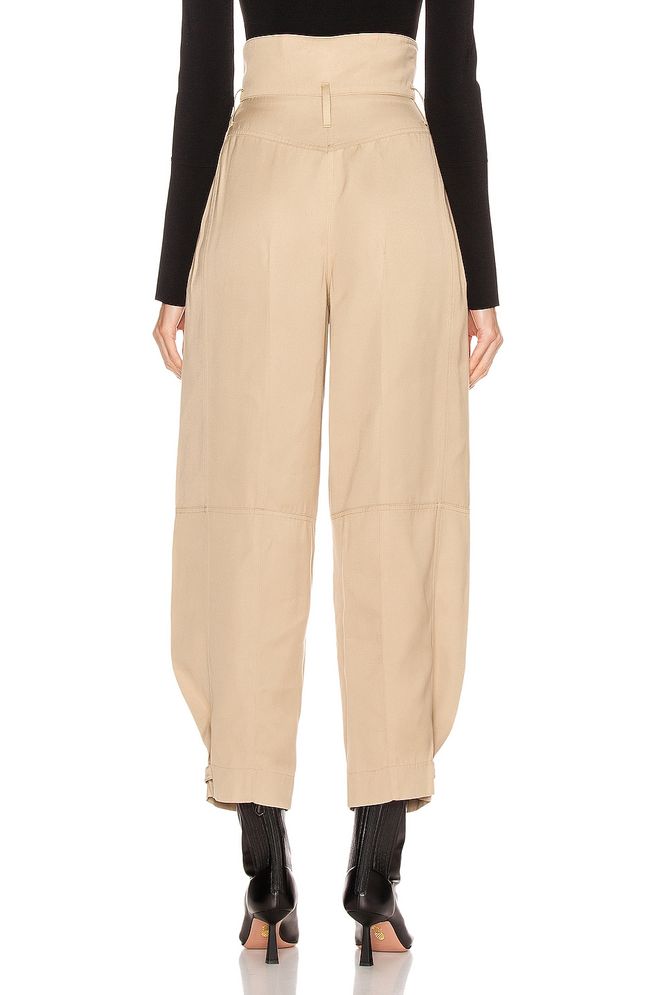 Image 3 of Givenchy High Waisted Pant in Tan