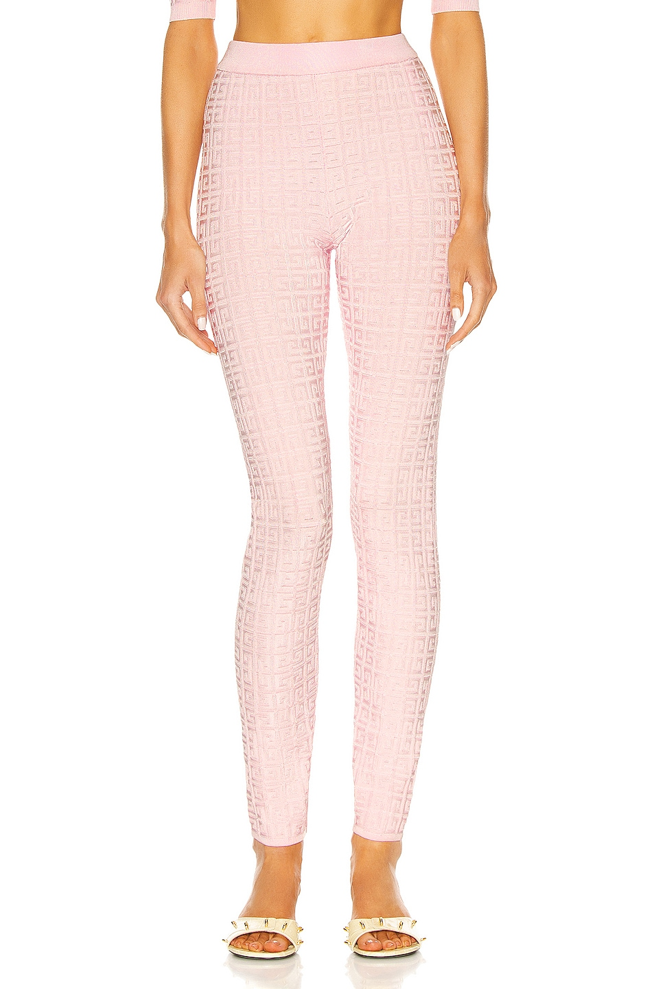 Image 1 of Givenchy Stretch Monogram All Over Legging in Light Pink