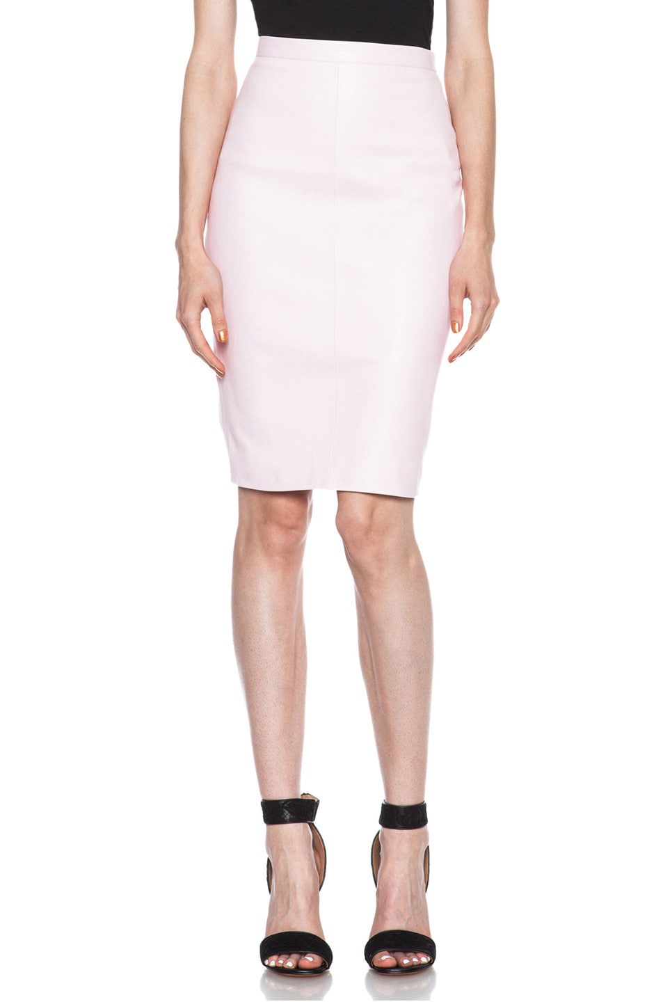 9ffdadccee Image 1 of Givenchy Nappa Leather Skirt in Pink