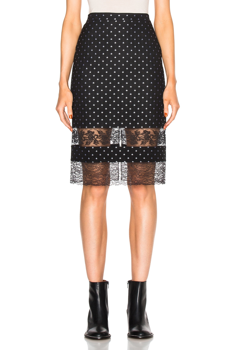 Image 1 of Givenchy Star Jacquard Skirt in Black