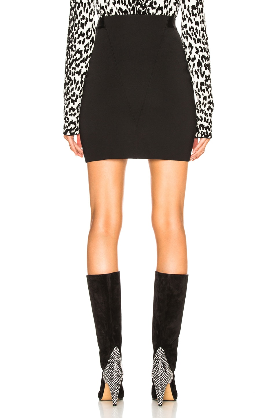 Image 4 of Givenchy Knit Seamed Mini Skirt in Black