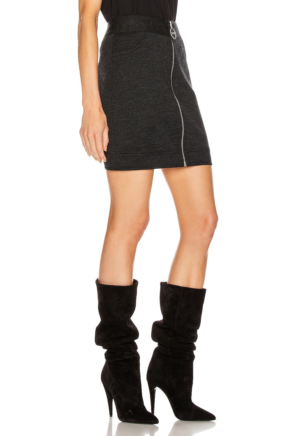 Image 2 of Givenchy Mini Pencil Zipped Skirt in Dark Grey