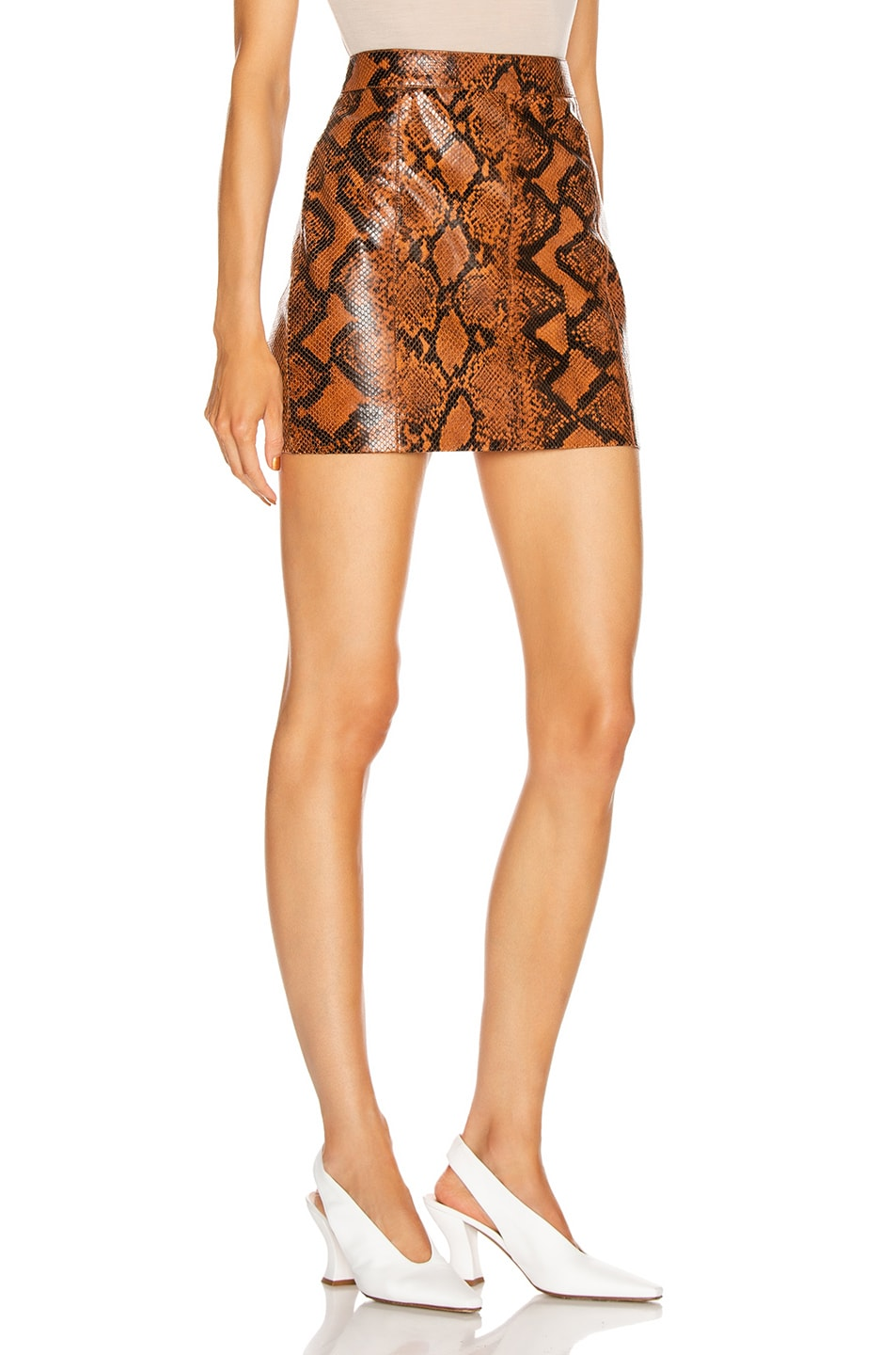 Image 2 of Givenchy Leather Short Skirt in Mustard