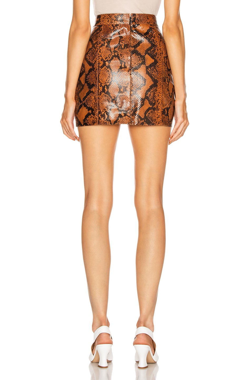 Image 3 of Givenchy Leather Short Skirt in Mustard