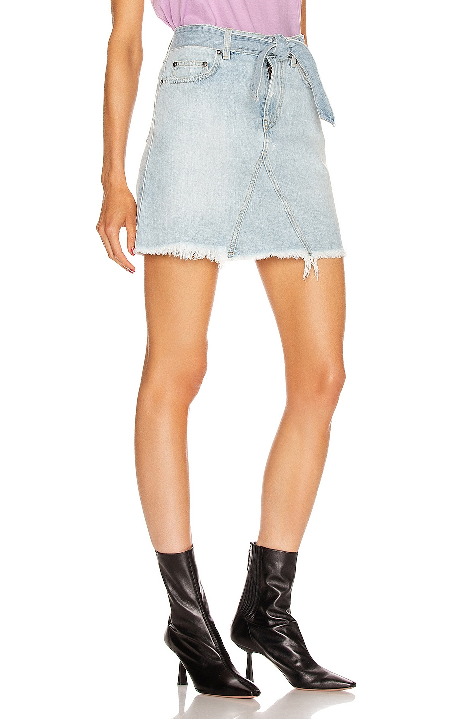 Image 2 of Givenchy A Line Denim Mini Skirt in Blue