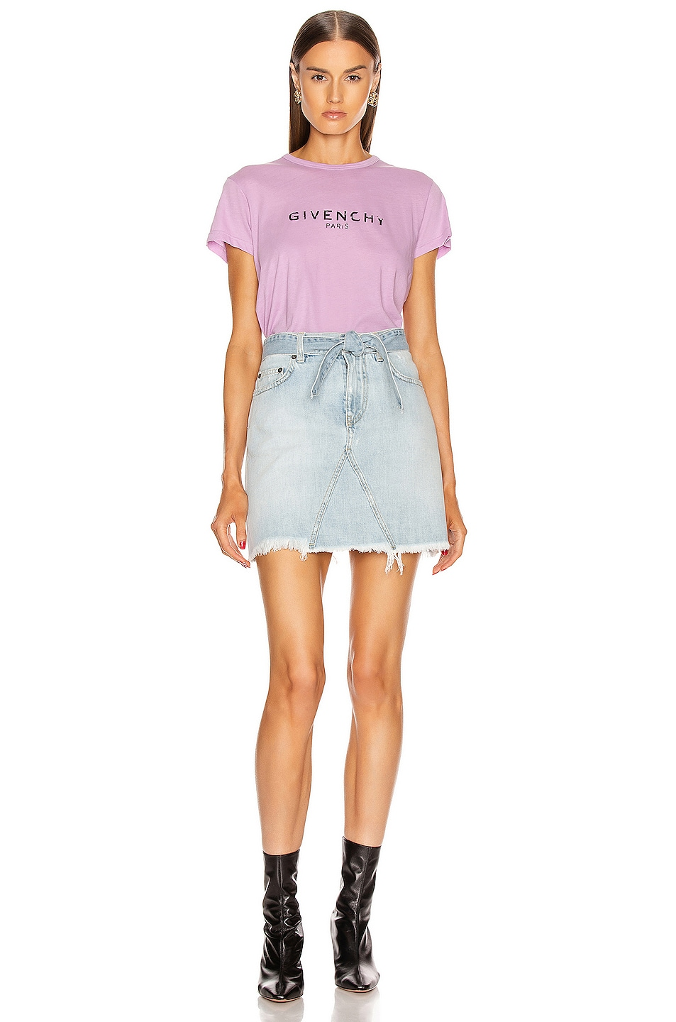 Image 4 of Givenchy A Line Denim Mini Skirt in Blue