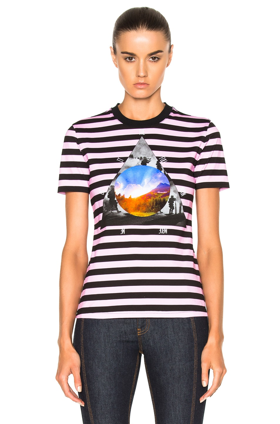 Image 1 of Givenchy Striped Graphic Tee in Multi