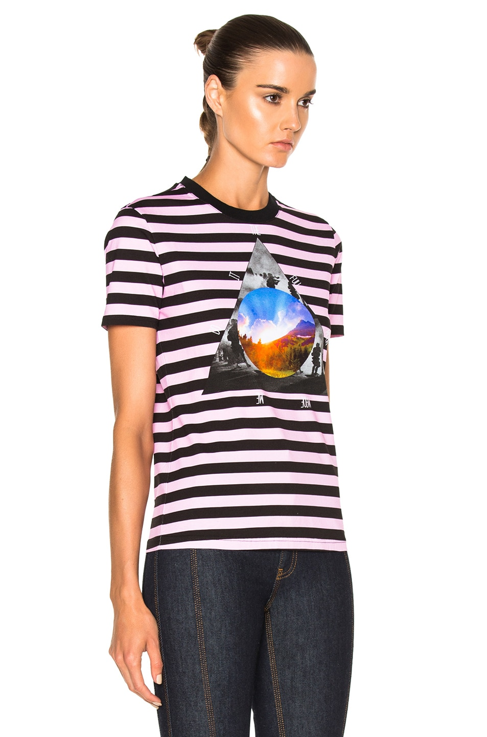 Image 3 of Givenchy Striped Graphic Tee in Multi
