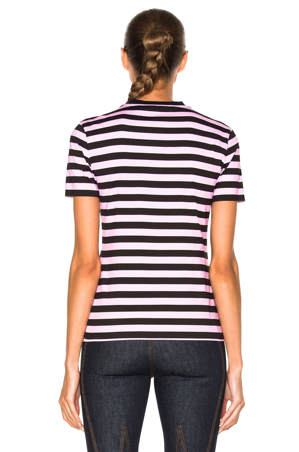 Image 4 of Givenchy Striped Graphic Tee in Multi