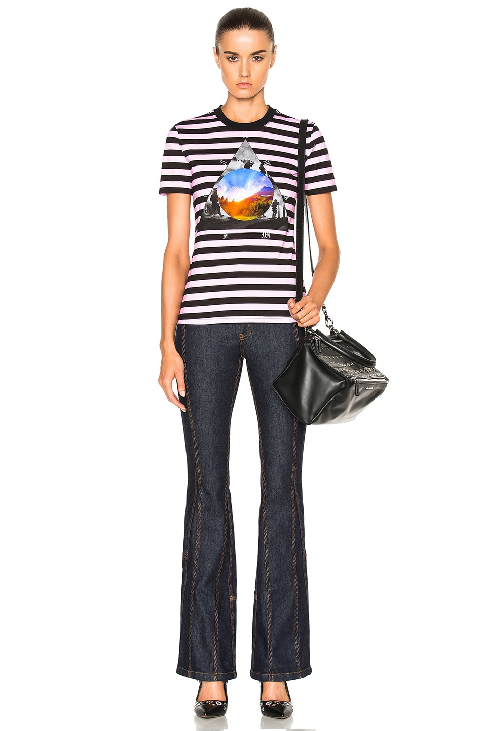 Image 5 of Givenchy Striped Graphic Tee in Multi