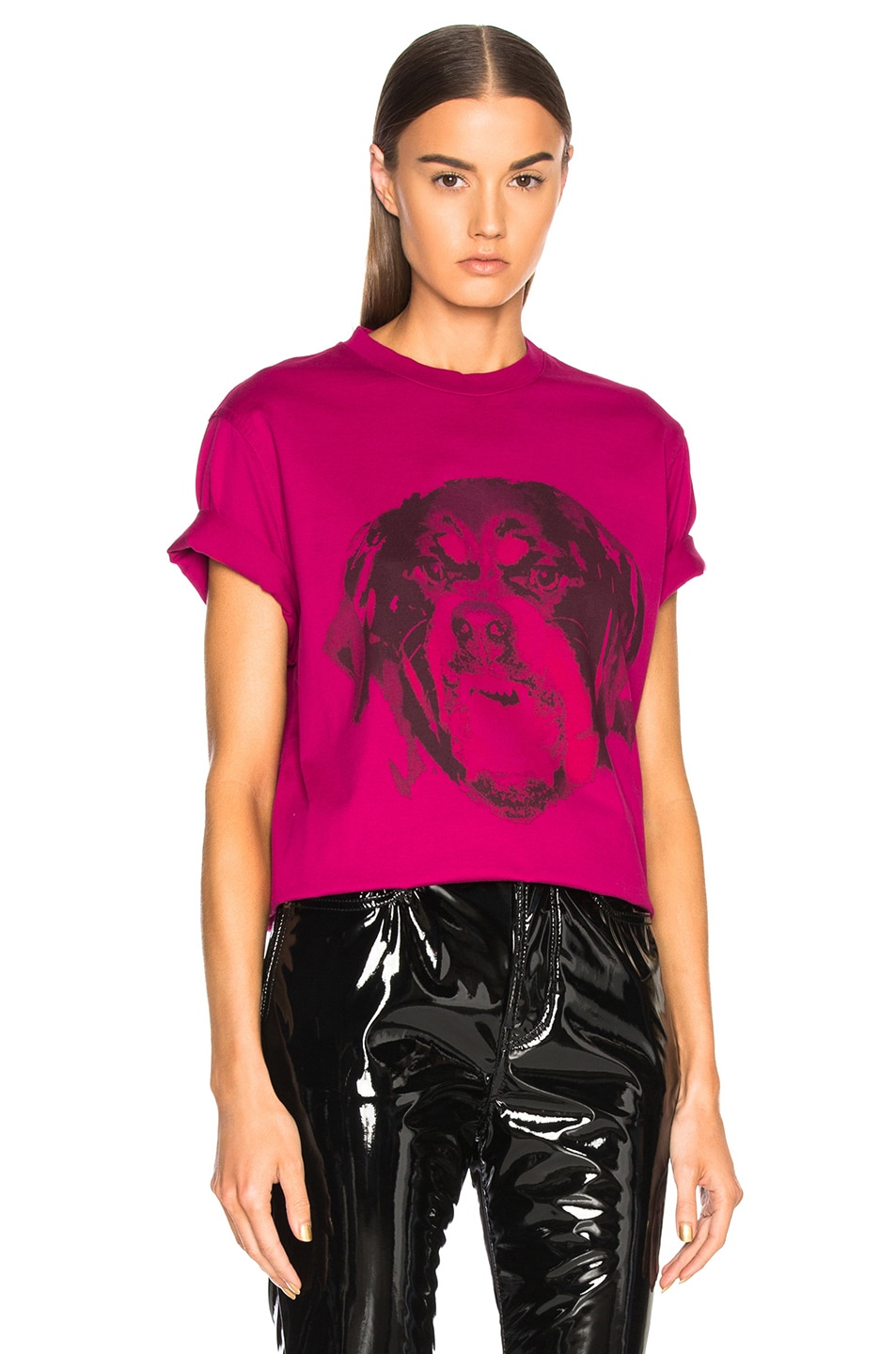Image 1 of Givenchy Rottweiler Printed Graphic Tee in Fuchsia