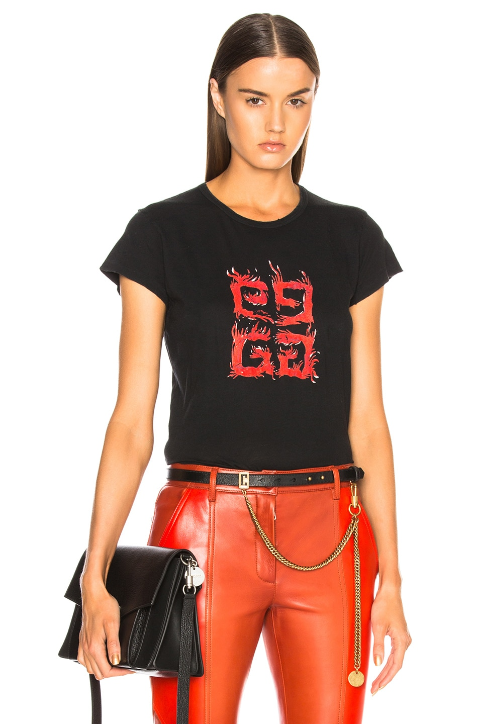 Image 1 of Givenchy Flame 4G Graphic Tee in Black