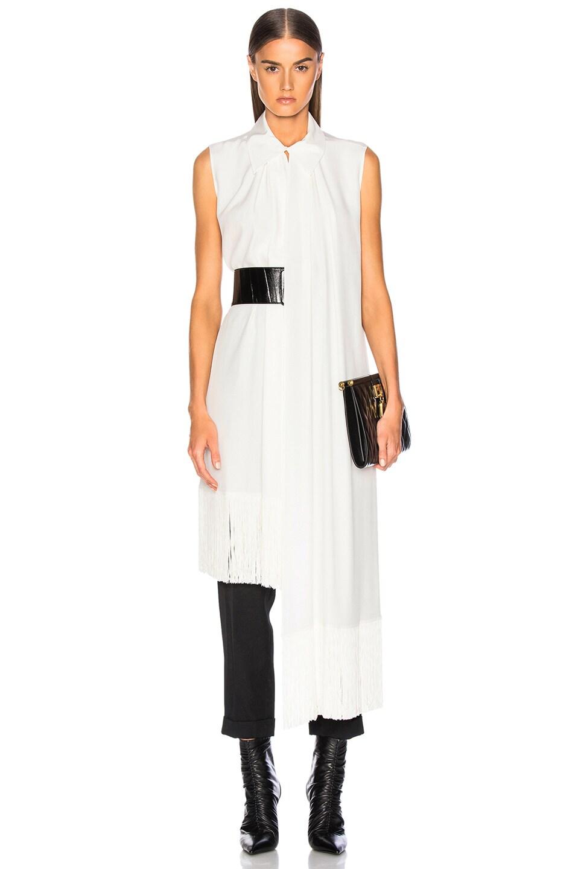 Image 1 of Givenchy Fringe Hem Sleeveless Tunic in Off White