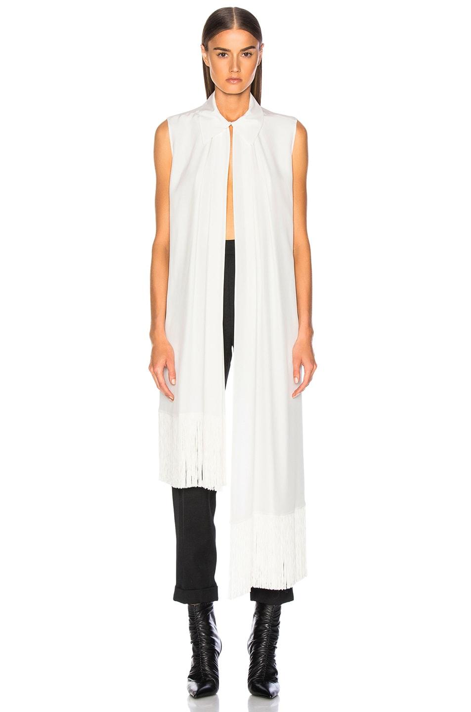 Image 2 of Givenchy Fringe Hem Sleeveless Tunic in Off White