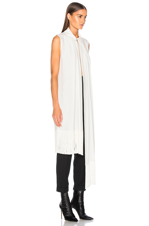 Image 3 of Givenchy Fringe Hem Sleeveless Tunic in Off White