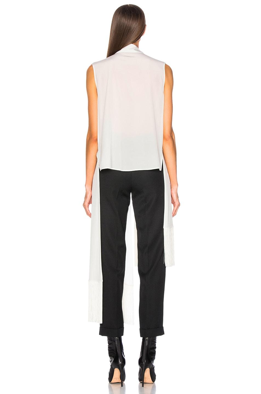 Image 4 of Givenchy Fringe Hem Sleeveless Tunic in Off White