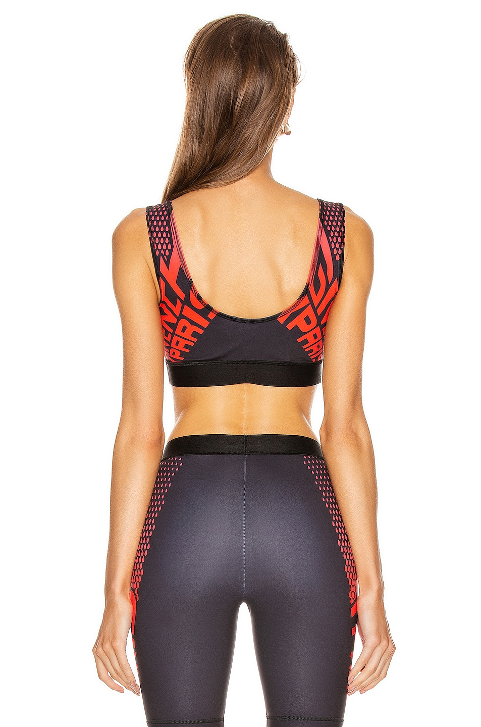 Image 4 of Givenchy Sport Logo Sports Bra Top in Black & Red
