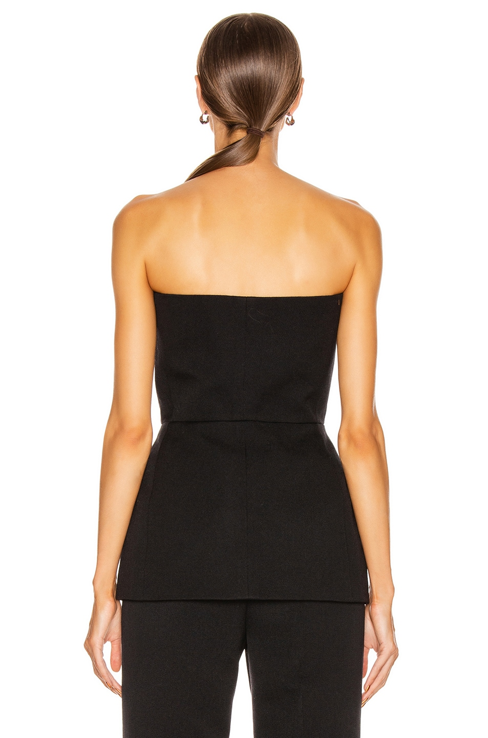 Image 3 of Givenchy Double Breasted Bustier Top in Black