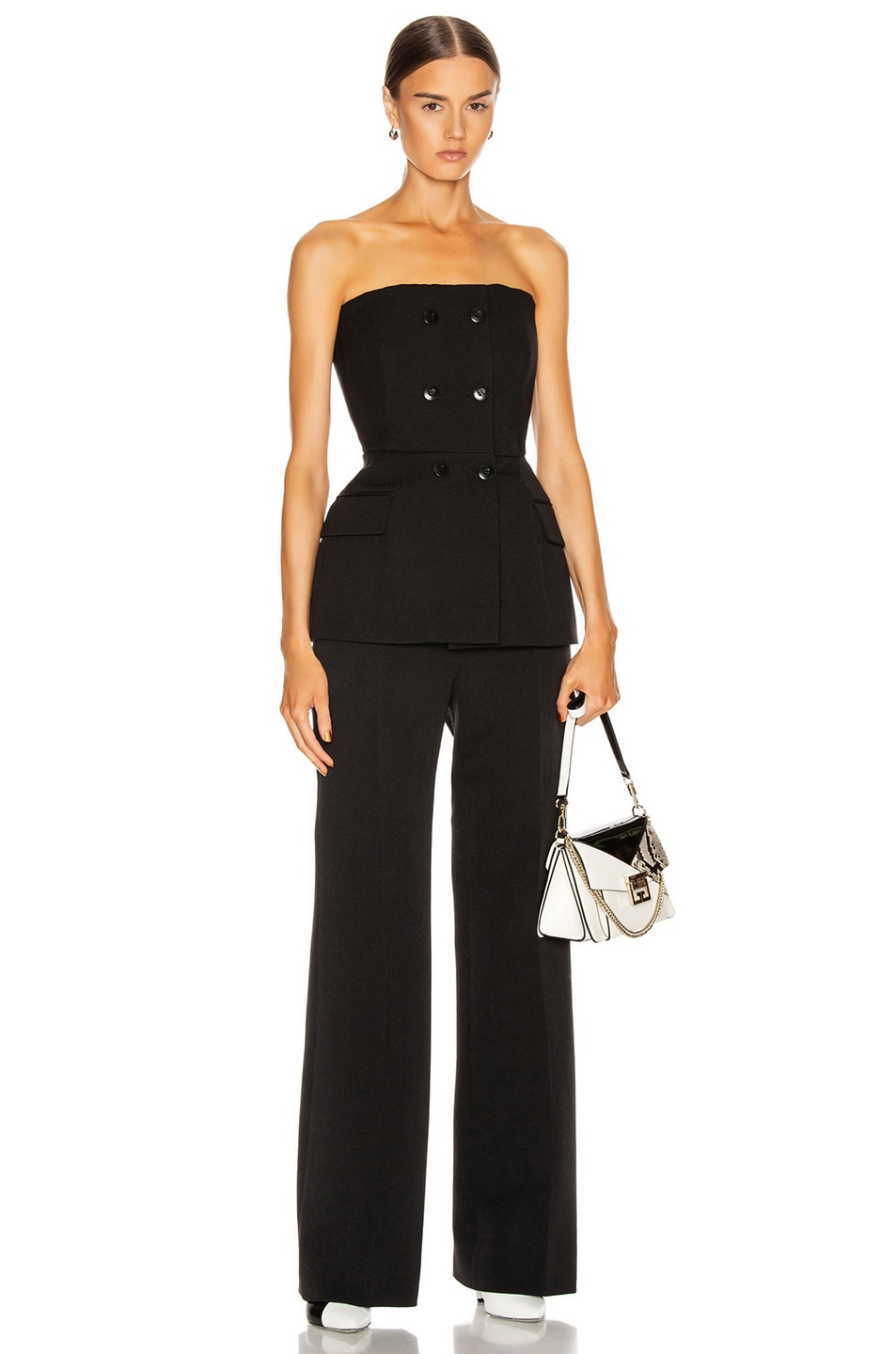 Image 4 of Givenchy Double Breasted Bustier Top in Black