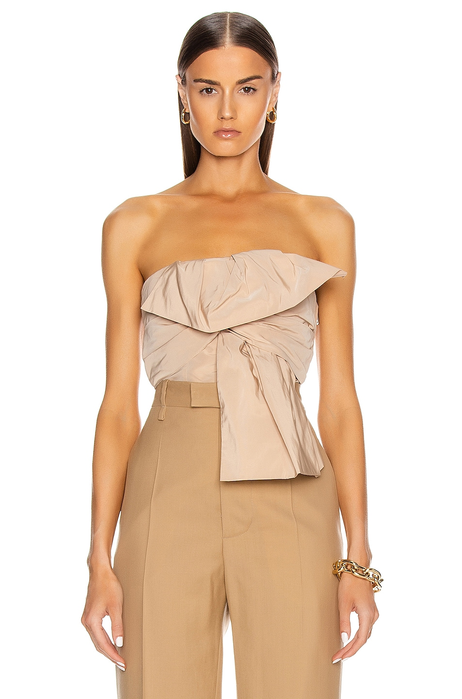 Image 1 of Givenchy Bow Bustier Top in Nude
