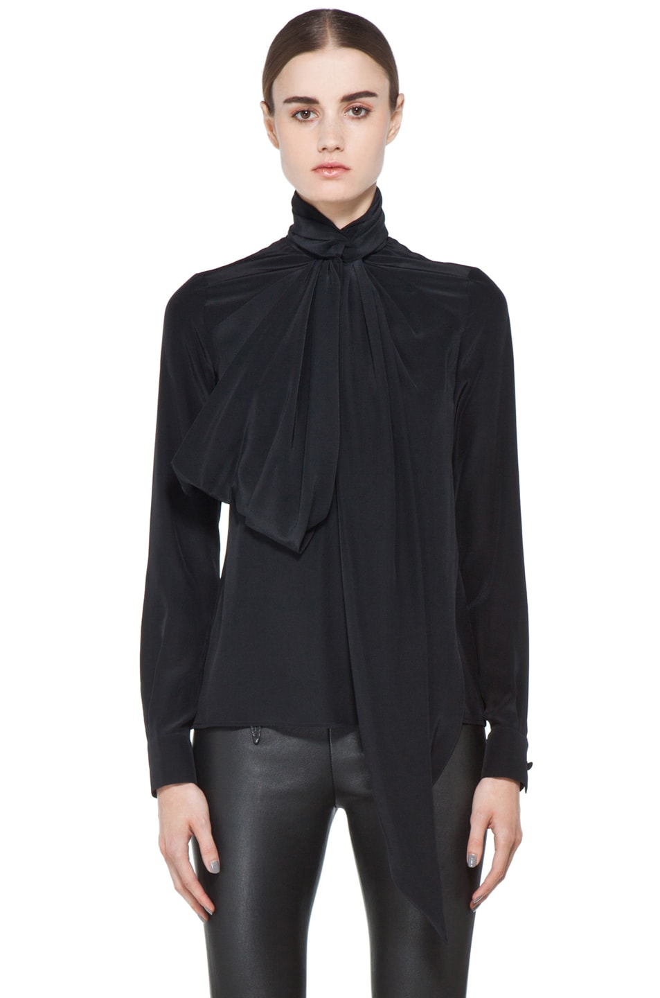 Image 1 of GIVENCHY Bow Blouse in Black