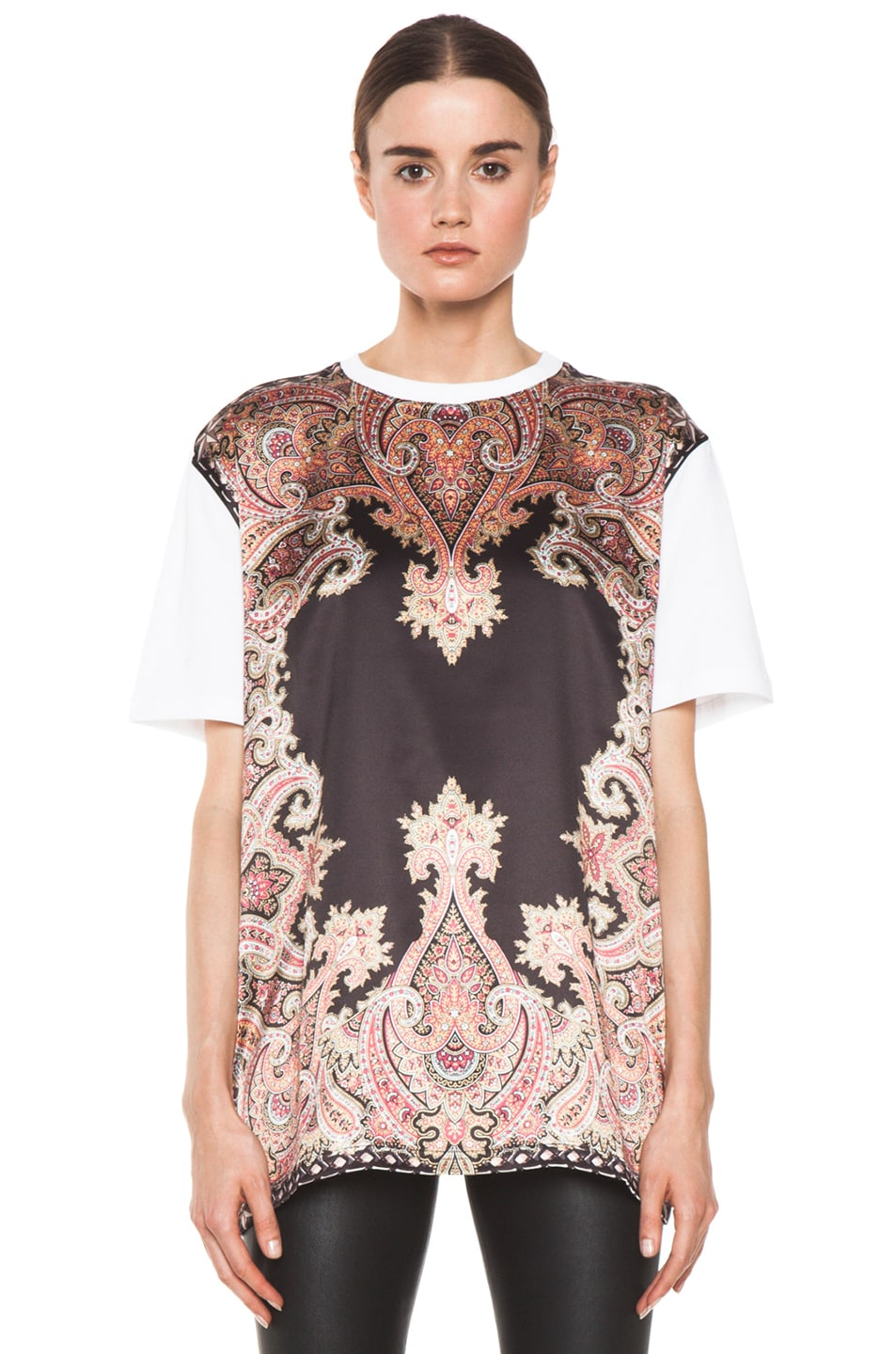 Image 1 of GIVENCHY Block Print Paisley Tee in Multi