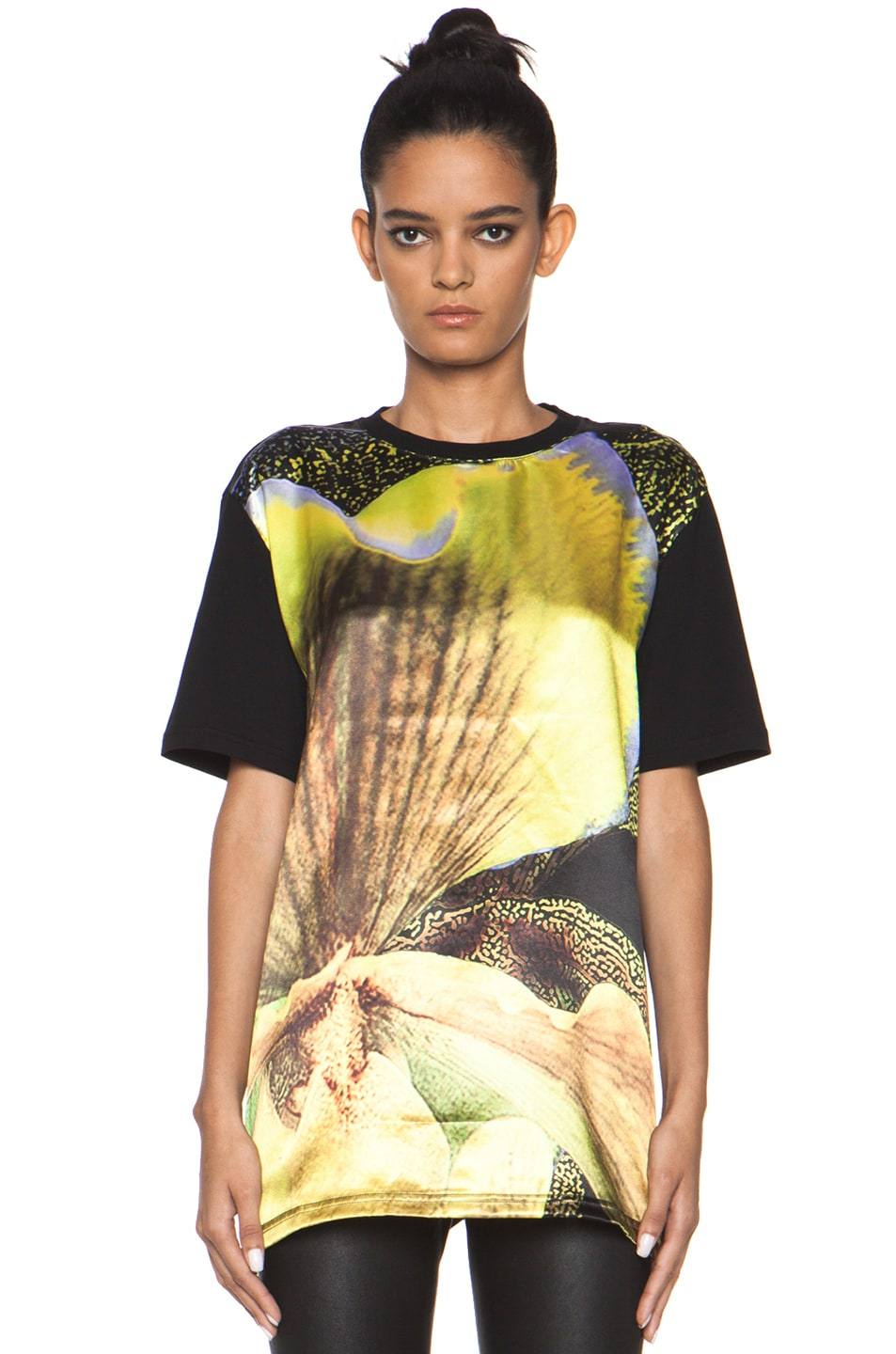 Image 1 of GIVENCHY Iris Flower Tee in Black