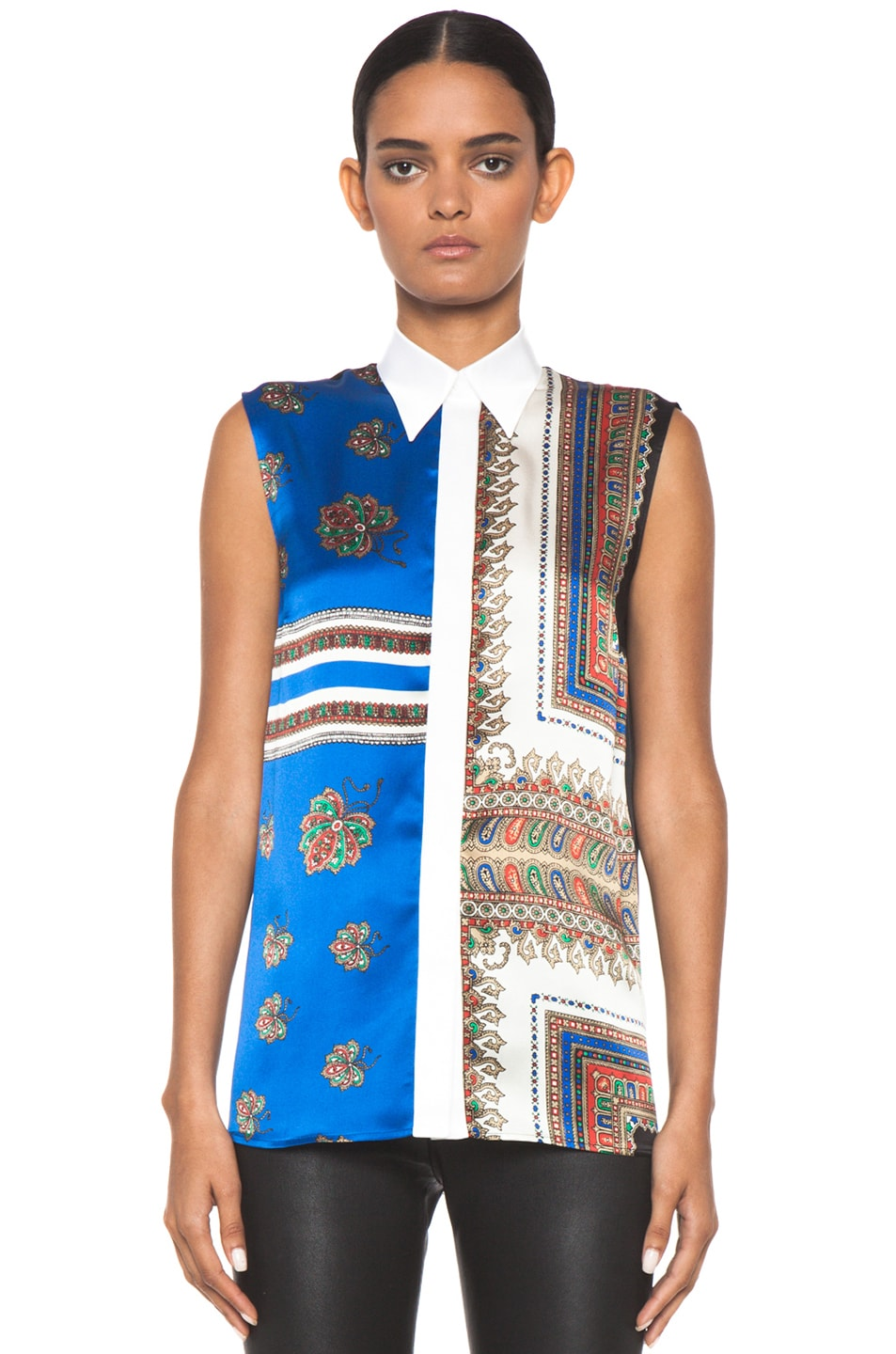 Image 1 of GIVENCHY Satin Sleeveless Printed Top in Multi