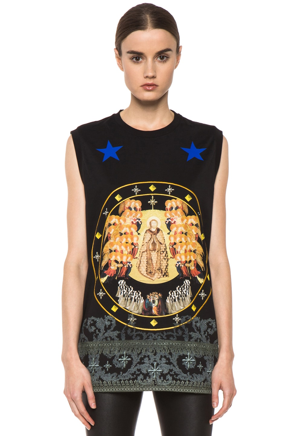Image 1 of GIVENCHY Baroque Print Tank in Black