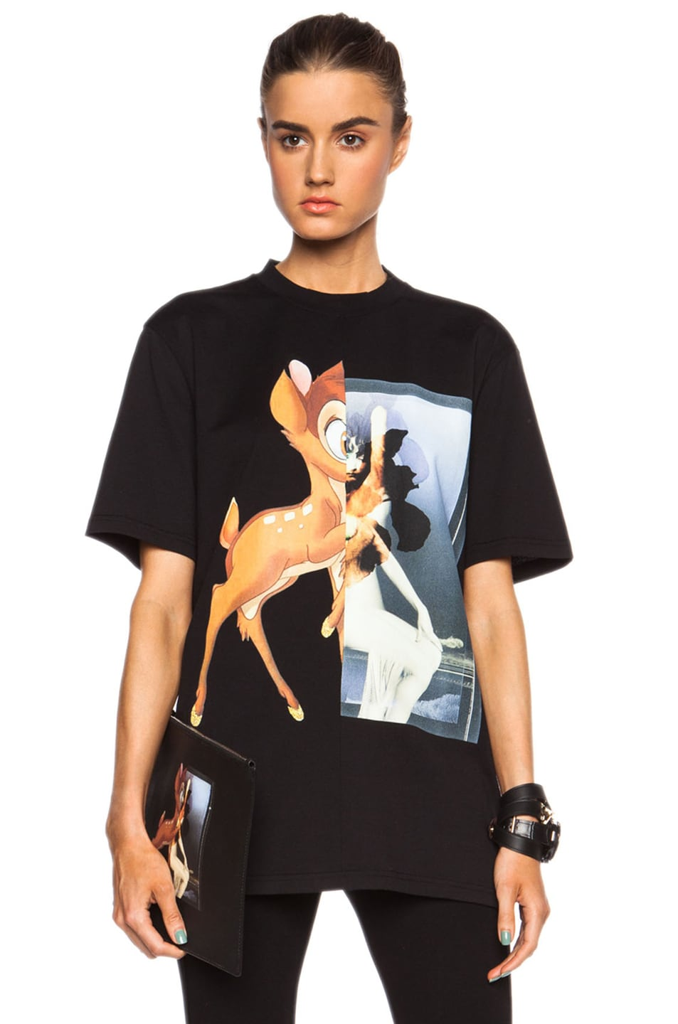 Image 1 of GIVENCHY Bambi Cotton Tee in Black