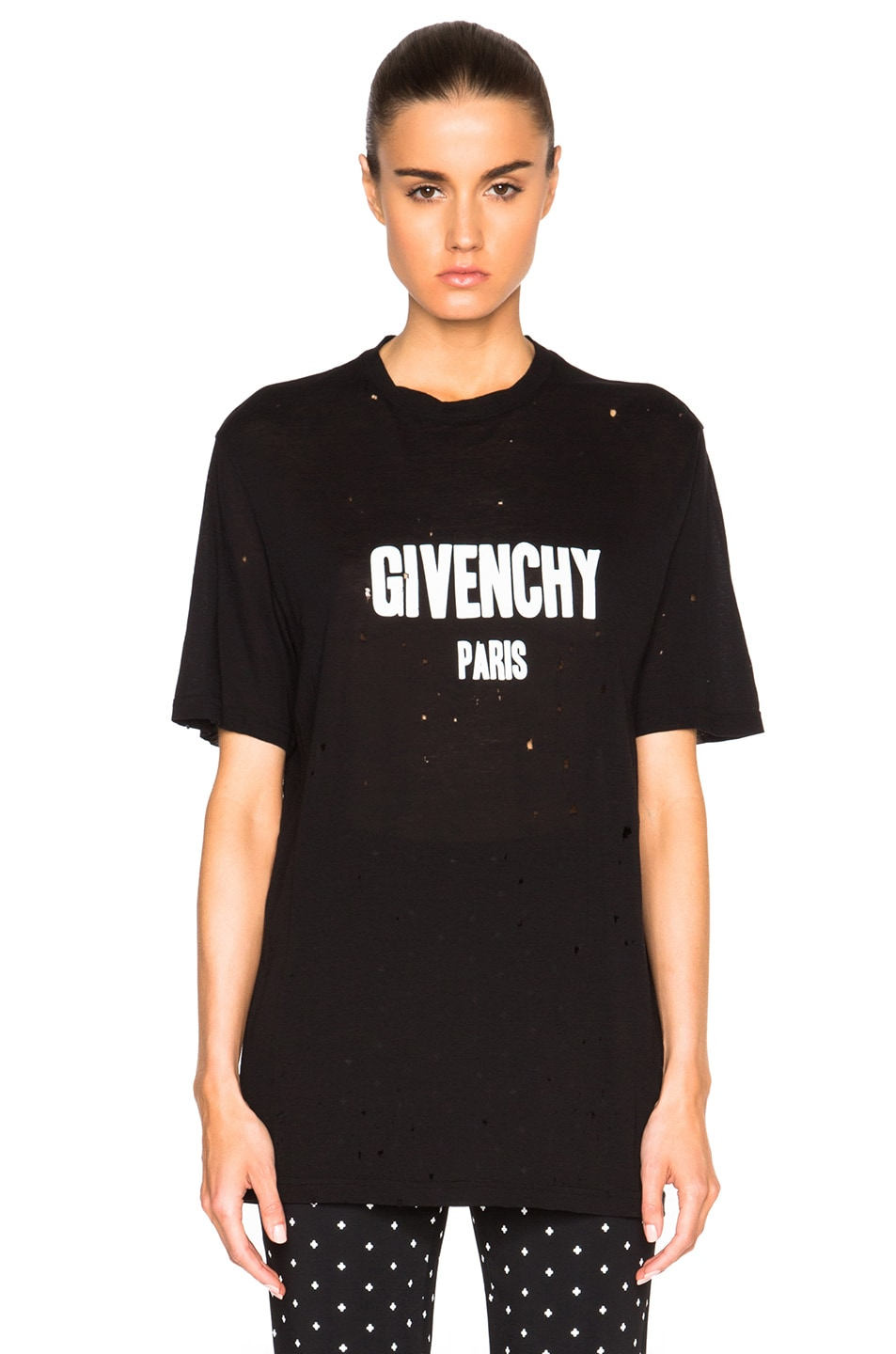 Image 1 of Givenchy Short Sleeve Tee in Black