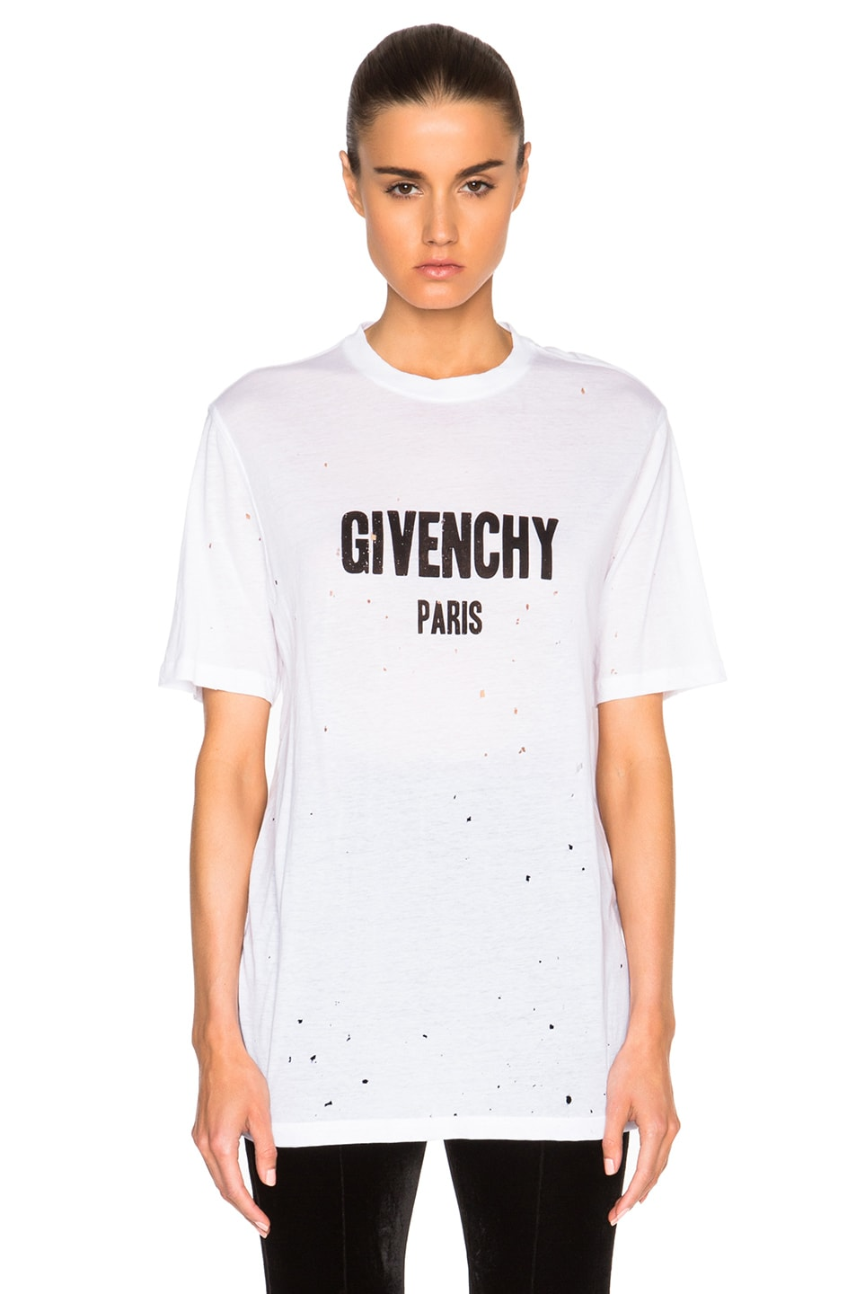 Image 1 of Givenchy Short Sleeve Tee in White