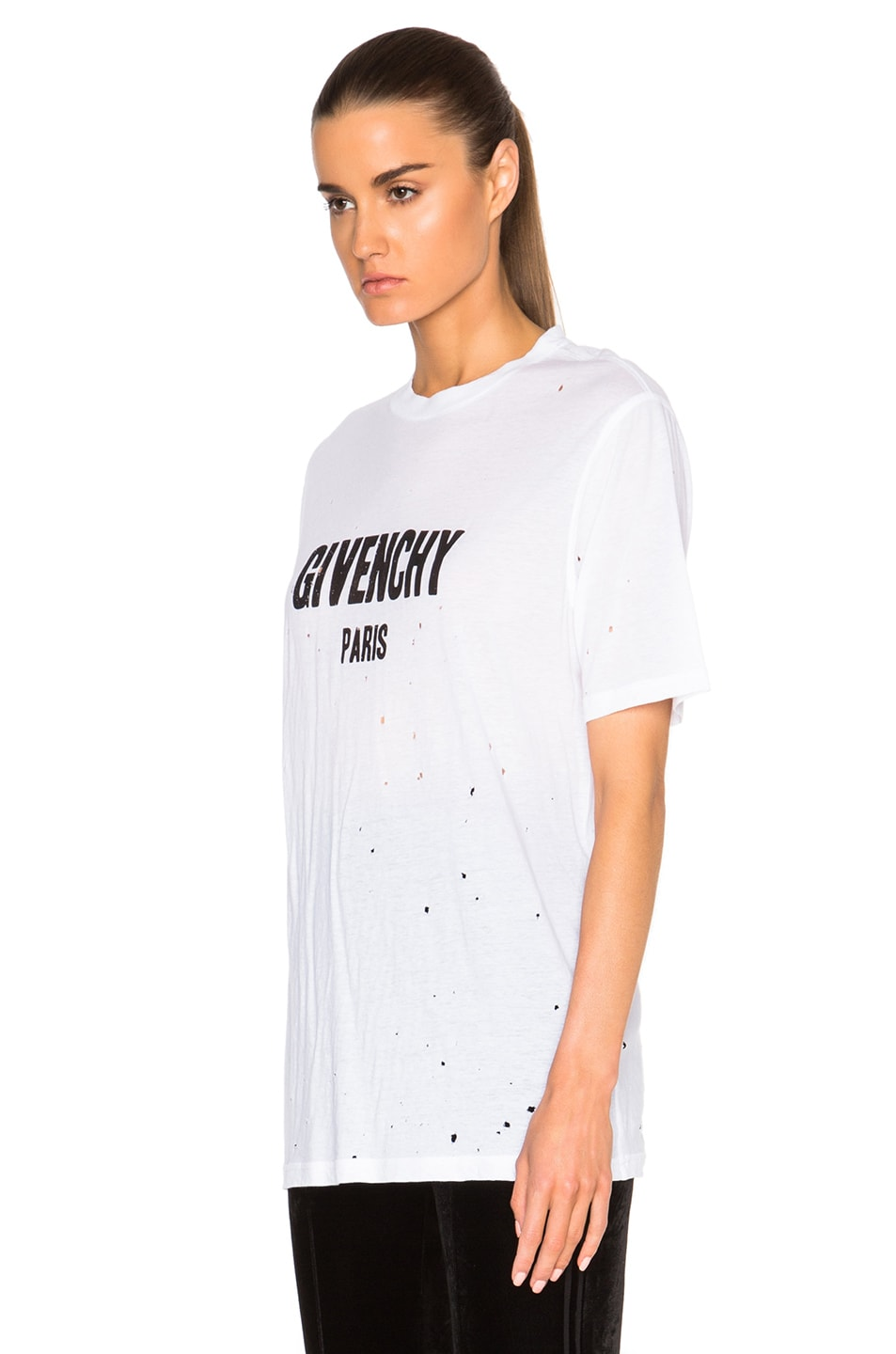 Image 2 of Givenchy Short Sleeve Tee in White