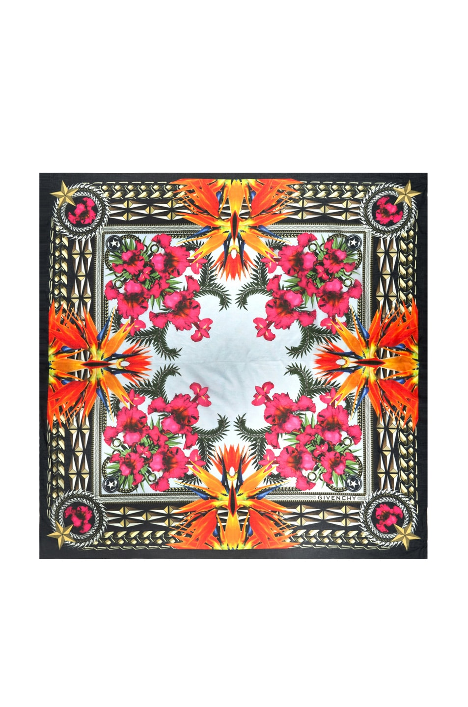 Image 1 of Givenchy Birds of Paradise Flowers Scarf in Light Blue