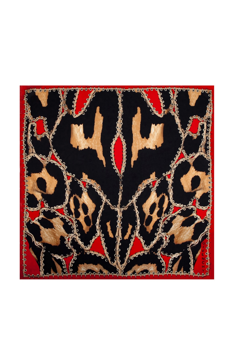 Image 1 of GIVENCHY Leopard Scarf in Red