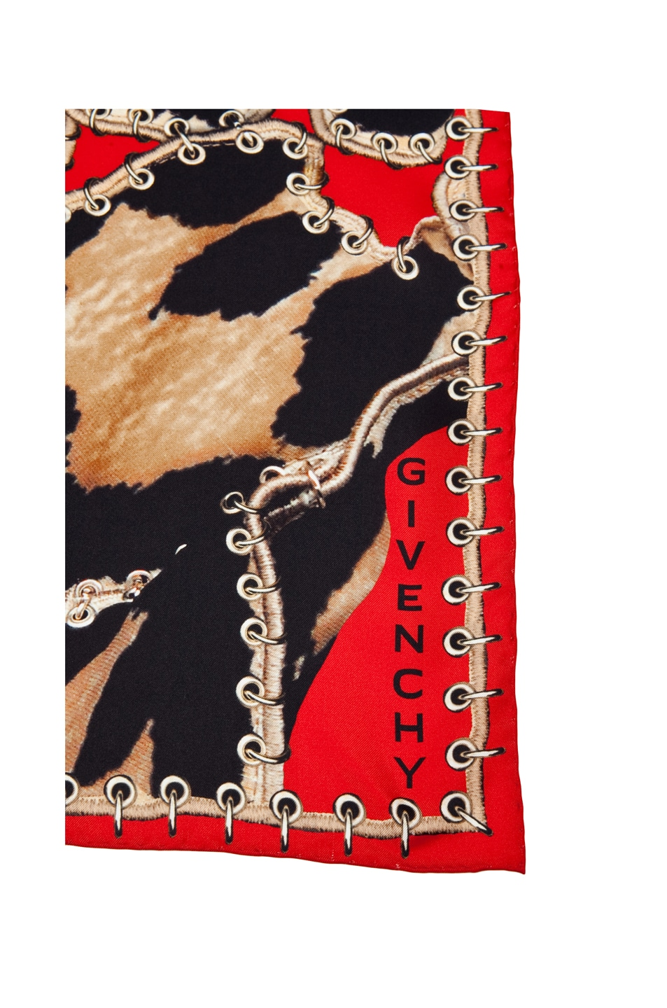 Image 3 of GIVENCHY Leopard Scarf in Red